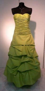 Šaty korzetové v zelené barvě